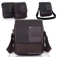 Business Leisure Eco-Friendly Cheap PU Men Shoulder Messenger Bag (54087-1)
