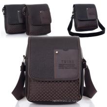 Negócios Lazer Eco-Friendly Cheap PU Men Shoulder Messenger Bag (54087-1)