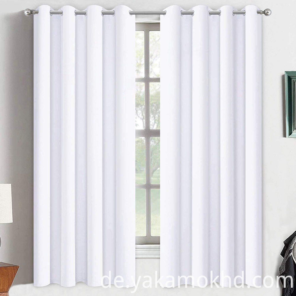 52-63 Pure White Curtains