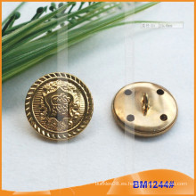 Metal Shank Militar botones de costura botón para BM1244