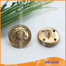 Bouton militaire à boutons métalliques à bouton de couture pour BM1244