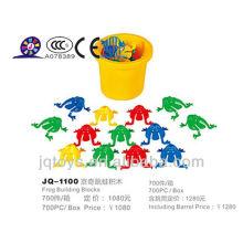 Niños comerciales traviesos Frog Building Blocks JQ 1100