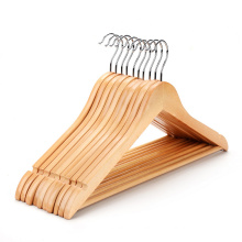 Free sample China manufacture wooden hangers clothes coat hanger for wholesale