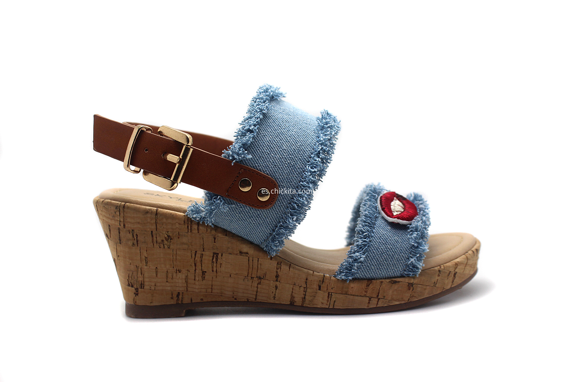 Girls wedge shoes, sandals with EVA wedge