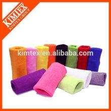 2015 Wholesale custom colorful sport cotton wrist sweatbands