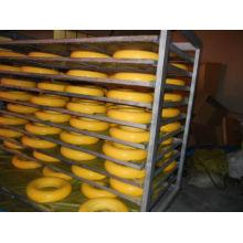 9 anos de fábrica qualquer roda lisa 4.00-8 do plutônio do trole da mão livre da espuma do plutônio da polegada