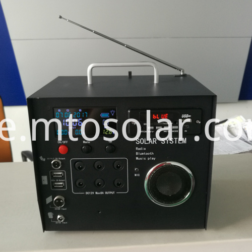 40w solar radio kit with radio bluetooth