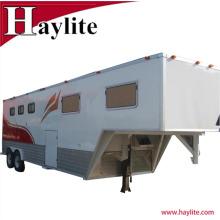 Remorque de cheval de col de cygne utilisé remorque à cheval avec des quartiers d'habitation