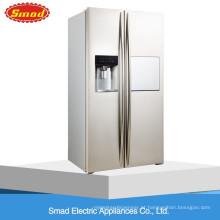 Porta francesa do lado de 550L nenhum Frost Refrigerador de lado a lado com máquina de gelo automática