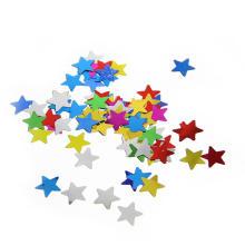 Vente chaude multi-couleur forme étoilée métallique confettis pour le mariage et la célébration d'anniversaire