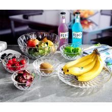 Haonai Wholesale 6 Pcs Glass Bowl / Glass Salad Bowl/Glass Cooking Bowl Set