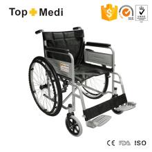 Topmedi Günstiger wirtschaftlicher klappbarer Stahlrollstuhl für Behinderte Dis