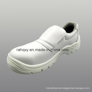 Professional White Micro Fiber Safety Shoes (HQ05023)
