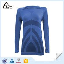 Körper-Form-Frauen-Hemden langes Hülsen-thermisches Oberseite