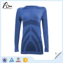 Форма тела Женщины Рубашки с длинным рукавом Термальный топ