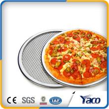 Écran de pizza d'acier inoxydable, disque augmenté de maille d'aluminium