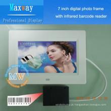 Necessidades diárias de 7 polegadas, varredor digital da moldura da foto da promoção dos cosméticos
