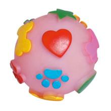 Игрушка собаки винилового шара с печатными лапами и сердечками для собаки