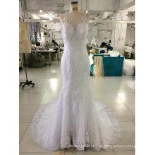Aoliweiya lujo característica 2017 vestidos de novia de la boda del vestido
