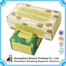 China impressão de cor extravagante simples e barata do distribuidor para a caixa de armazenamento dobrável do sabão
