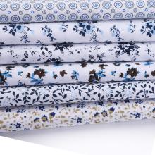 Tecidos impressos de popeline branco para camisas de costura