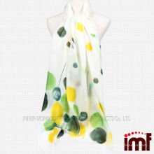 100% Cashmere Colorful Polka Dot Shawl white Woven Stole For Sale