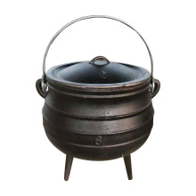 cast iron potjie pot cookware set with three legged south Africa pot