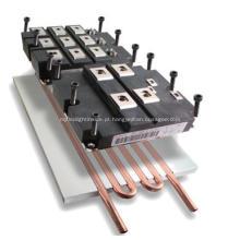 Placa de refrigeração de água tipo tubo pressionado