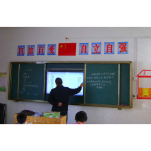 Sliding Chalkboard for TV or Interactive Whiteboard with Projector