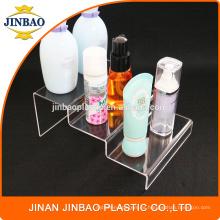 Estante de exhibición de acrílico de Jinbao transparente 3m m 5m m para el centro comercial