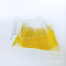 Low-cost impact-resistant corrugated plastic FRP translucent roof panel for roof lighting