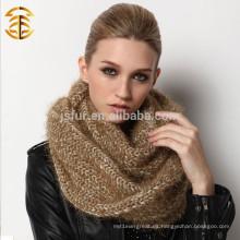 China al por mayor Nuevo producto Plain teñido de señora Scarf Knit Infinity Scarf Mujer