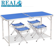 Mesa de dobradura de mesa de dobradura de alumínio ajustável Mesa de dobradura de mesa de dobradura de alumínio ajustável