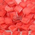 Granel de peças de vidro vermelho para suprimentos de mosaico