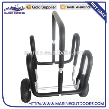 Double Aluminium Stand Up Paddleboard Wagen Surfboard Trolley SUP Träger