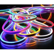 DMX lantern mini RGB Neon flex,72pcs 5050SMD/m color changing led neon tube with remote controler ,220-240V led sign board tube