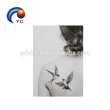 Motifs d'oiseaux autocollant de tatouage temporaire femme Sexy Body Art Supply