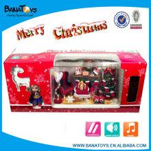 Juguetes de canto animado con luz y música Decoración de árbol de Navidad