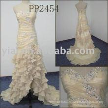 2011 новое прибытие высокого качества бесплатная доставка бисером милая кружева шифон пром платье PP2454