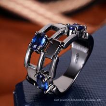 Femmes accessoires Chine bague de mode saphir bleu Pierre anneau modèle