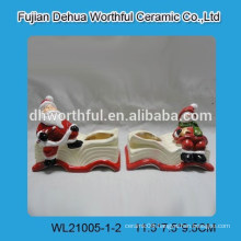 Merry christmas ceramic candle holder with book design