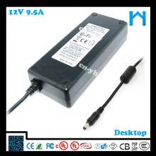 AC al enchufe de la energía de DC 2.1mm X 5.5mm UL enumeró la fuente de alimentación 12v 9.5amp 114w