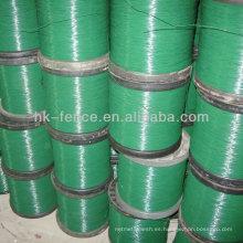 Alambre recubierto de PVC de alta calidad y colorido (fábrica)