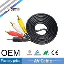 SIPU usine prix 3.5mm av câble en gros audio rca câble pour le meilleur câble de sortie AV