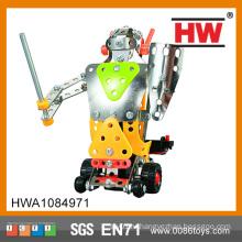 Обучающий игрушечный металлический металлический электрический робот DIY