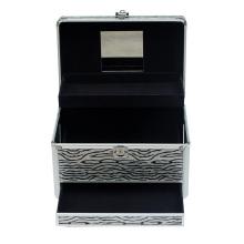 Caja cosmética con cajón y espejo