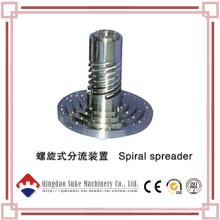 Esparcidor de espiral extrusor con certificación CE
