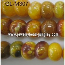 Abacus shape agate bead-yellow fire