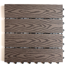 Quick and Easy Installation Slip Resistant Color Stable No Painting Garden Composite Deck Tile