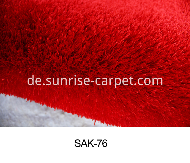 Polyester Silk Thick Yarn Shaggy Rug
